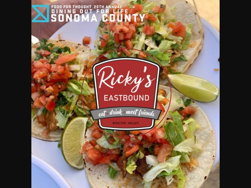 FFTFoodBank: We can't wait to dine again with you this year at @rickyseastbound for FFT's biggest annual fundraiser Dining Out for Life on Thursday, December 2., benefitting our clients living with HIV and other serious medical conditions. Event info at: